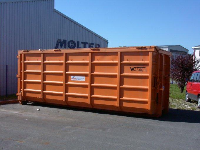 Abrollcontainer 40 m³ mit Deckel