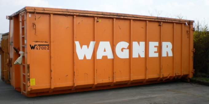Abrollcontainer 40m³ mit Deckel
